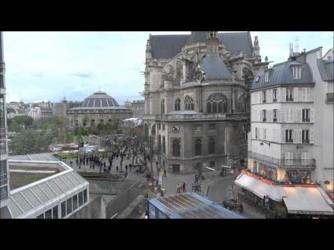 Saint Eustache Bourse de Commerce vues de la rue Rambuteau