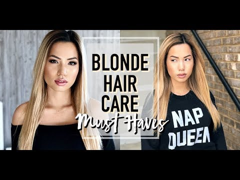 BLONDE HAIR CARE   MY MUST HAVES