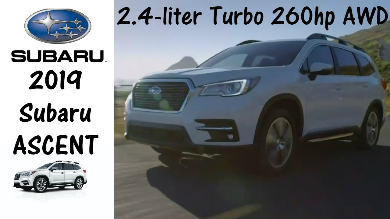 2019 Subaru Ascent 8 Pengers Turbo Awd Manufacturer Video