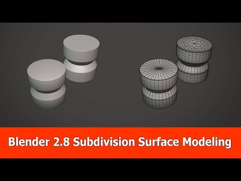 Blender 2.8 Subdivision Surface Modeling Tutorial
