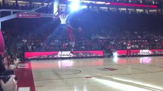 Lobo basketball: Deshawn Delaney dunk (final round)
