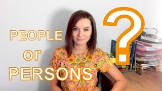 People or persons?