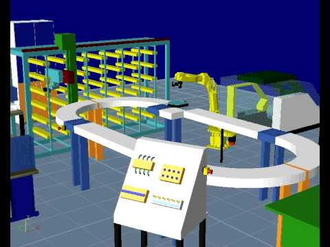 U of M Reconfigurable Manufacturing Simulation Project B