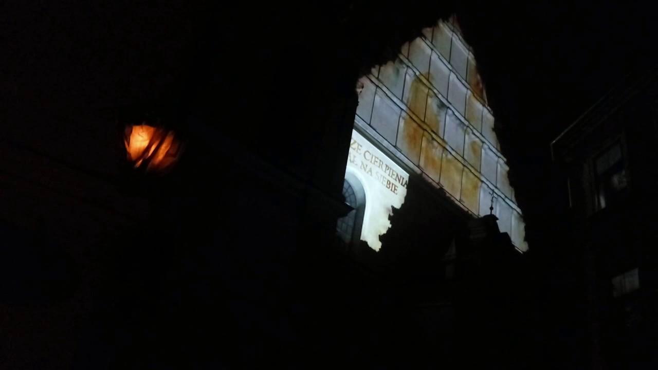 Passione Christi. Mapping na fasadzie Bazyliki Dominikanów