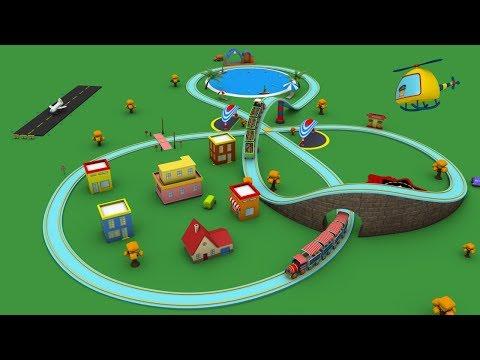 Trains for children - cartoon for kid - choo choo train - kids railway - Toy Factory cartoon
