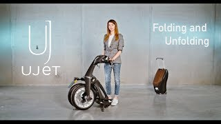 Ujet Scooter Quick Guide: Folding and Unfolding