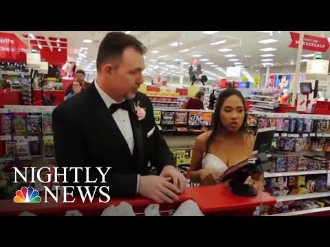 Couple Takes Wedding Guests On Surprise Shopping Spree -- But Not For Themselves | NBC Nightly News