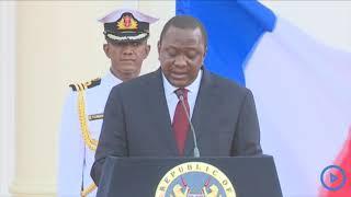 Uhuru Kenyatta's full speech at state house during Macron's visit