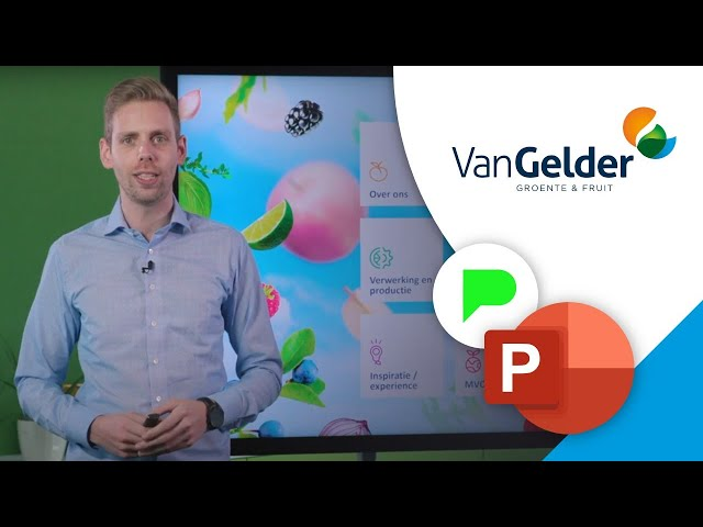 Inspirerende bedrijfspresentatie  Van Gelder groente & fruit | Portfolio | PPT Solutions