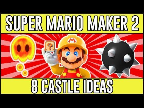 Stunning Castle Ideas! - Amazing Super Mario Maker 2 Castle Theme Ideas