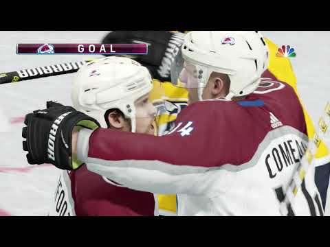 NHL 18 Stanley Cup Playoffs Game 1 Colorado Avalanche vs Nashville Predators 04 12 2018
