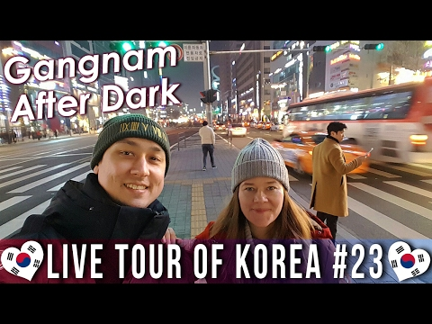 Gangnam After Dark - 🇰🇷 LIVE TOUR OF KOREA #23