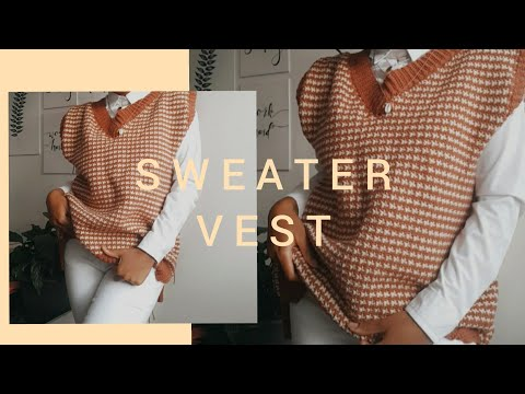 crocheting a sweater vest - YouTube