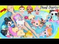 LOL Surprise Dolls Visit Barbie Dog Pool, Eat McDonalds Happy Meal with Chicken Pox Drive Thru Toy