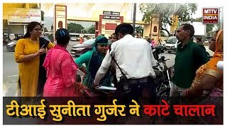AJMER NEWS   सोमवार शाम यातायात पुलिस की कार्रवाई   MTTV INDIA