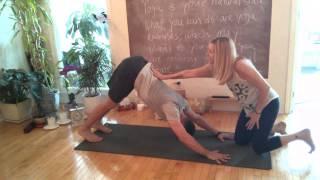 Indigo Yoga Tip - Susanne Bertolas is showing you how to do Downward Dog