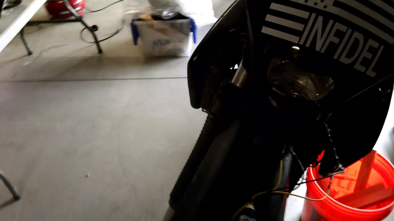 KLR 650 LED turn signal wire up straightforward - YouTube Klr Turn Signals Wiring Diagram on