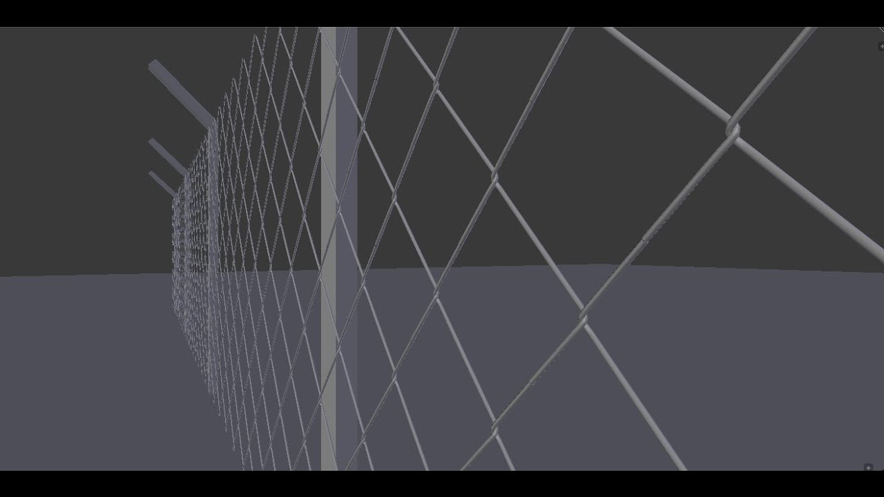 Modelling a wire mesh fence in blender tutorial - YouTube