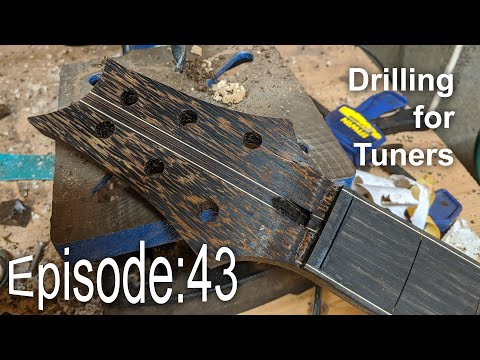 Guitar Shed Diary 43: Drilling A Guitar For Machine Heads / Tuners