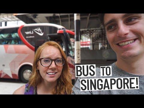 BEST BUS RIDE FROM MALAYSIA TO SINGAPORE! (Kuala Lumpur 🚌 Singapore)