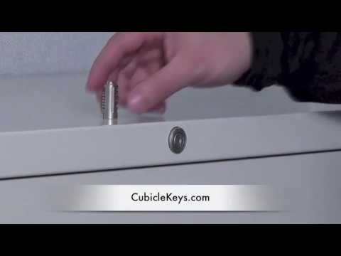 Lock Core Removal & Install for Steelcase FR or XF File Cabinet ...