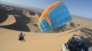 PARAGLIDING IN SAHARA DESERT !