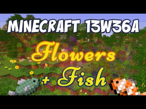 Minecraft Snapshot 13w36a - New Flowers, Fish and Junk!