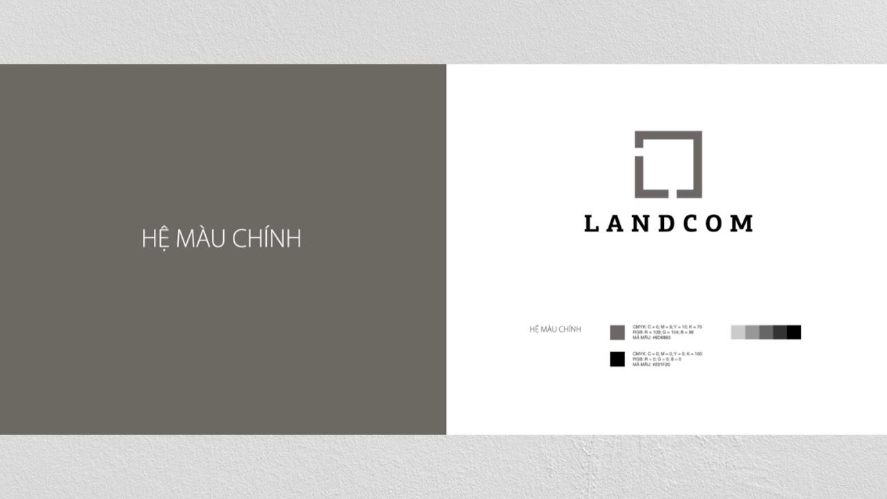 Logo công ty bất động sản LandCom | Logo design | Guideline logo