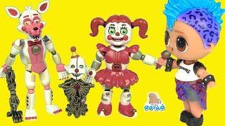 #ФНАФ! Куклы Лол и Аниматроники FNAF Видео для детей! Мультики с игрушками - My Toys Potap