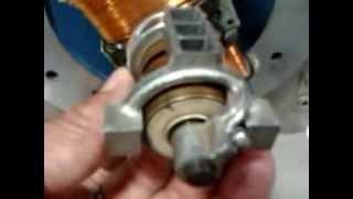 Demonstration of Generator slip ring & split ring