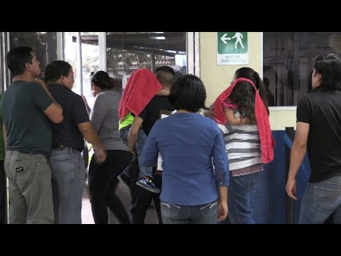 Deported migrants from the US arrive back in Guatemala