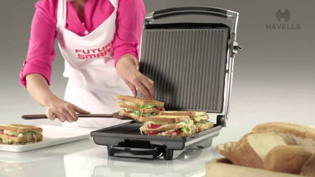 Havells Toastino 4 Slice Sandwich Grill Demo Youtube