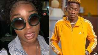 Efia Odo blast critics left and right over sleeping with Shatta Wale reports after their music shoot