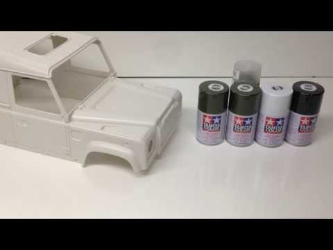RC4WD Gelande 2 - Painting a Hard Body, which paints to use