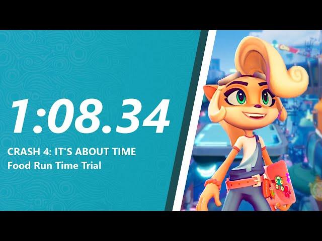 Crash 4 - Food Run Time Trial in 1:08.34