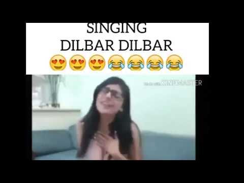 Mia Khalifa Singing Dilbar Dilbar
