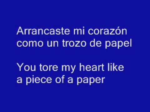 Mis ojos lloran por ti lyrics in english. Escorpio123ss.