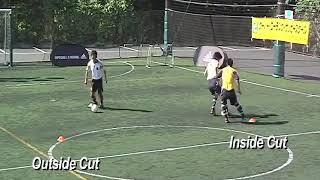 Coerver Coaching football training | 1v1 MOVES Drill 3a