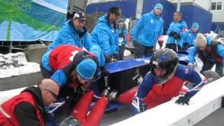 Vancouver 2010: Great Britain Bobsleigh Crash