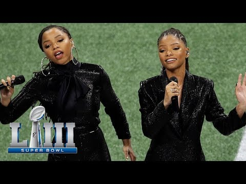 Sherry Mackey - Chloe and Halle Sing 'America the Beautiful' at the Big Game