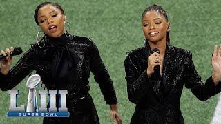 Скачать Chloe X Halle Sing America The Beautiful Super Bowl LIII NFL Pregame