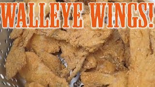 WALLEYE WINGS!|QUICK & DELICOUS RECIPE!