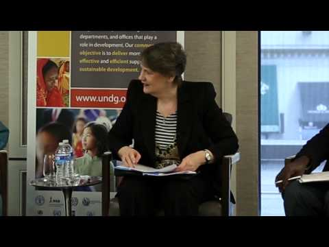 Plenary Discussion  with the Chair of the United Nations Development Group, Helen Clark
