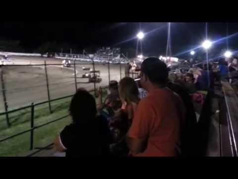 Sprint Car Flip @ Creek County Speedway