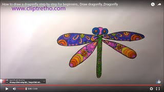 How to draw a dragonfly step by step for beginners_ HOW TO DRAW MANDALA