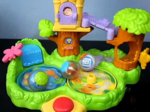 Fisher Price Roll A Rounds Jungle Friends Treehouse Musical Học Và Chơi