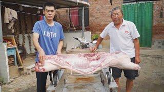 【食味阿远】2000块钱买了半头猪,阿远今天做扣肉吃,六大碗摆上桌,眼馋了 | Preserved Vegetable \u0026 Pork | Shi Wei A Yuan