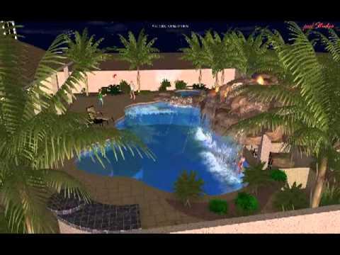 Custom swimming pool design virtual tour by presidential for Virtual swimming pool design