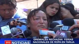 Gremiales rechazan ferias nacionales de ropa en Tarija