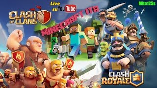 🔴Minecraft ITA 1.12 + Clash of Clans + Clash Royale